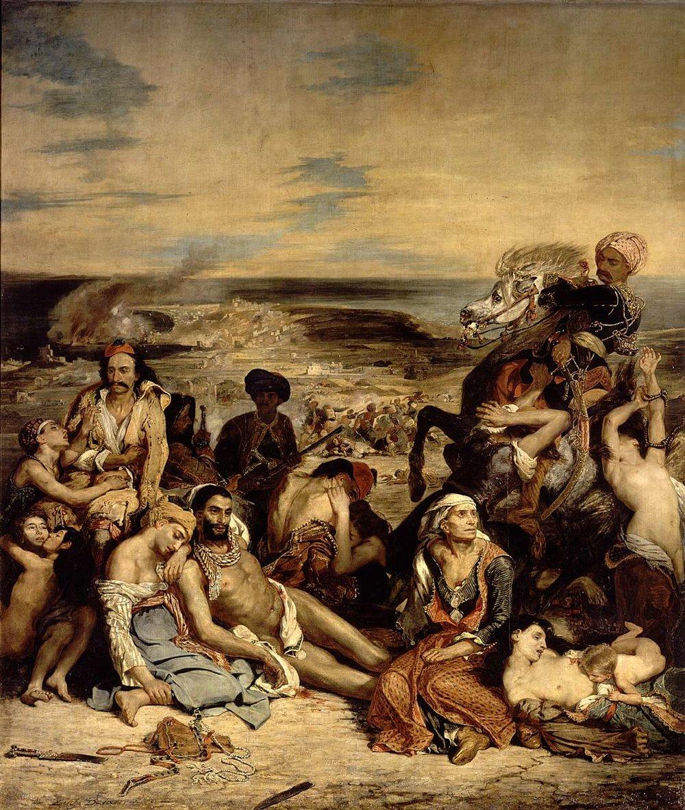 Eugène Delacroix, Massacre at Chios, oil on canvas, 1824, The Louvre