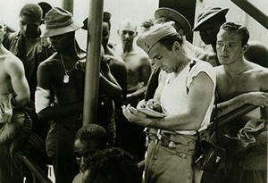 Combat Artist Sketching (date unknown)