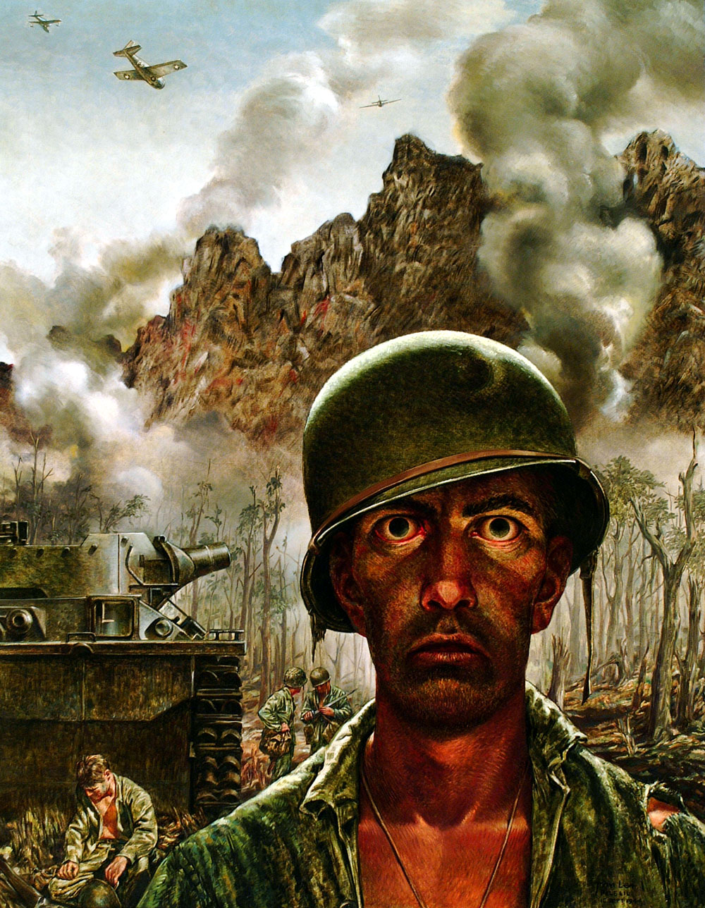 Tom Lea, The 2,000-Yard Stare, 1944. Oil on canvas.