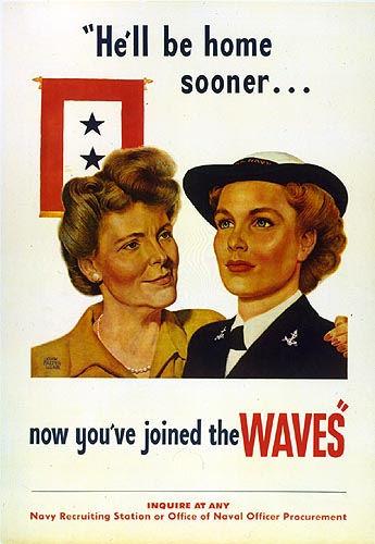 "American Propaganda Poster, John Falter, ""He'll Be Home Sooner,"" 1944"