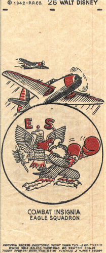 Combat insignia designed by Disney animators, 1942