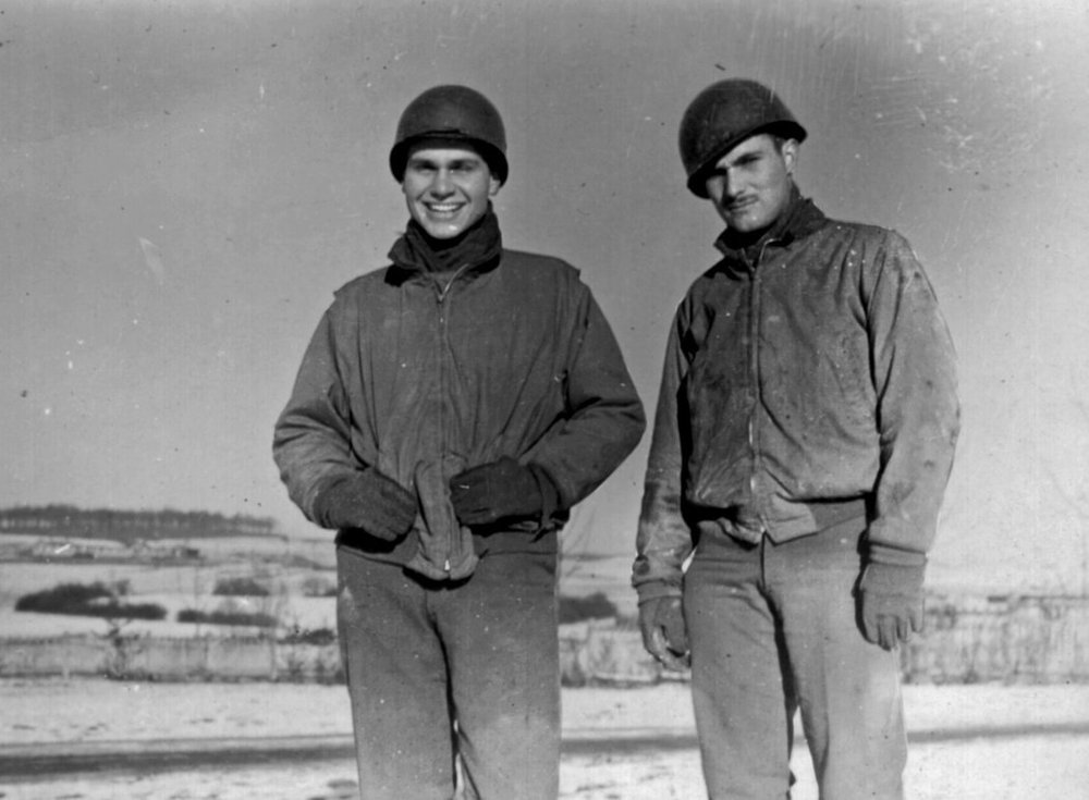 Bill Blass (left) while at work for the Ghost Army