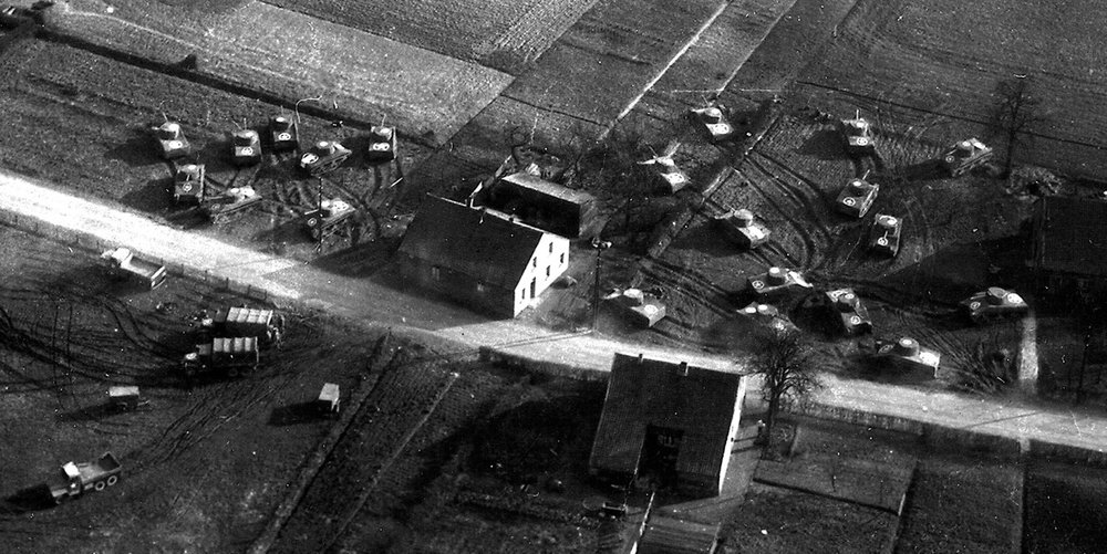 A Ghost Army encampment from above