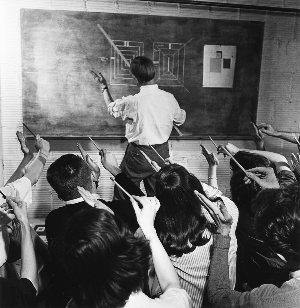 Josef Albers teaching at Black Mountain College, North Carolina, circa 1946; Genevieve Naylor/Reznikoff Artistic Partnership