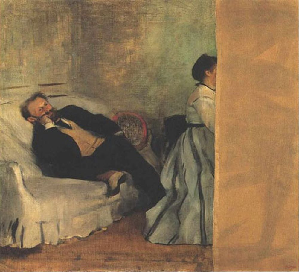 Edgar Degas, Édouard Manet and Mme. Manet, 1868-69