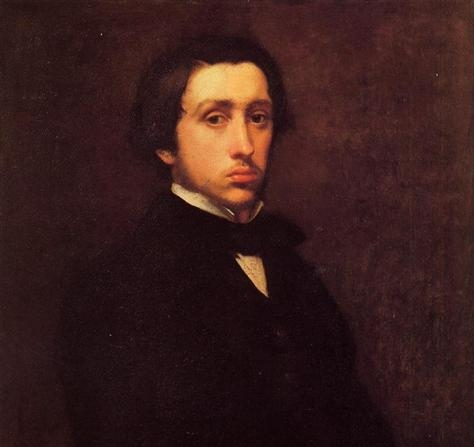Edgar Degas, Self-Portrait, 1855 (detail)