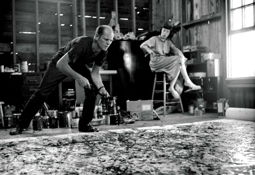 Jackson Pollock and his wife, Lee Krasner, photograph by Hans Namuth, 1950.