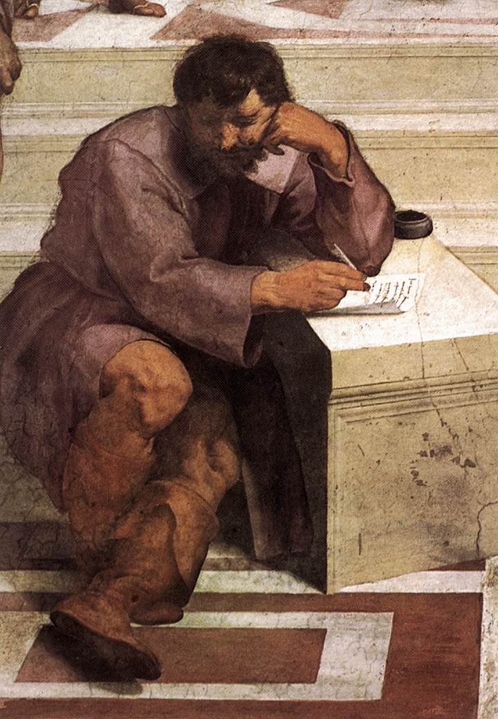 Portrait of Heraclitus (Michelangelo), from Raphael's The School of Athens, 1509–1511