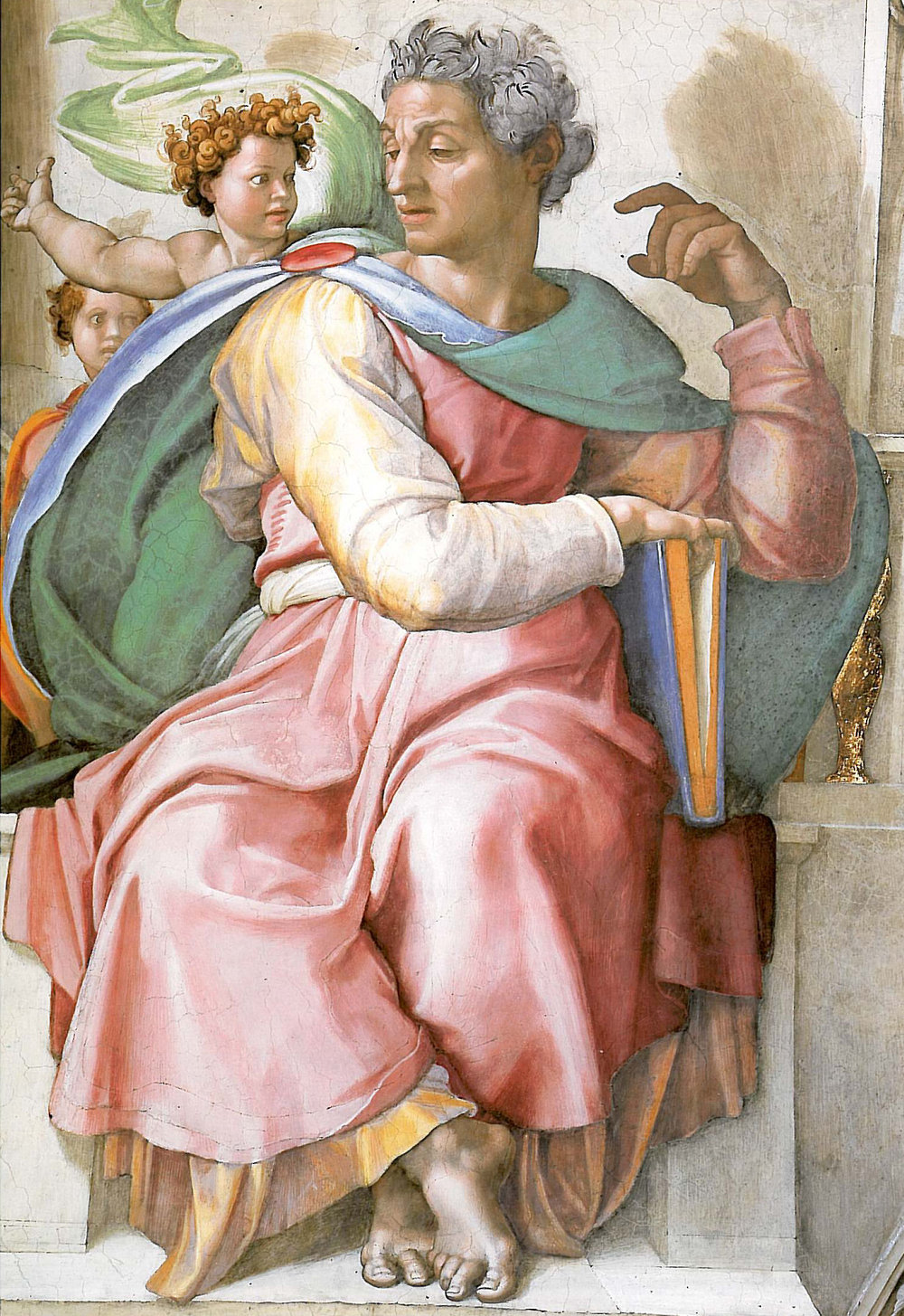 Michelangelo, The Prophet Isaiah, from the Sistine Ceiling, 1508-1512.