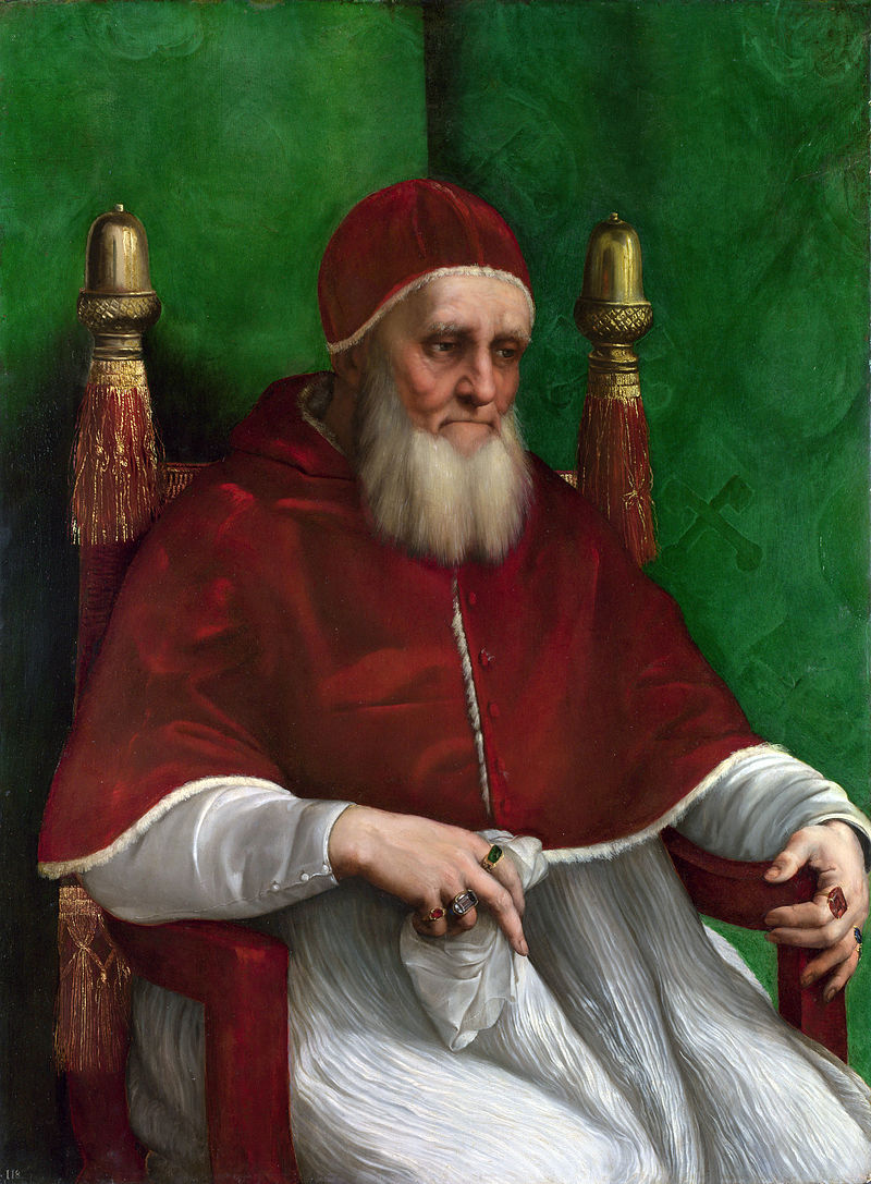 Raphael, Portrait of Pope Julius II, 1511-1512