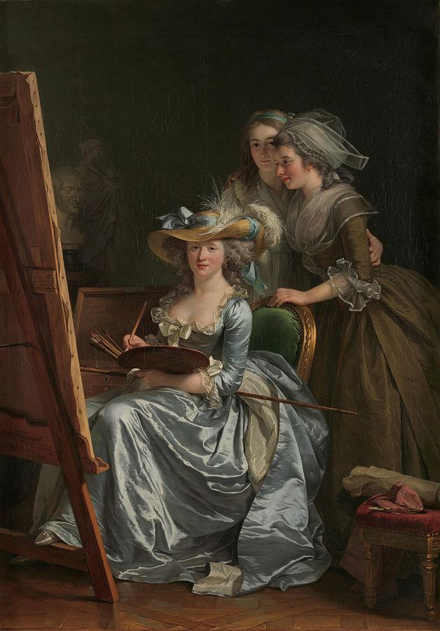 Adélaïde Labille-Guiard, Self Portrait with Two Pupils, 1785