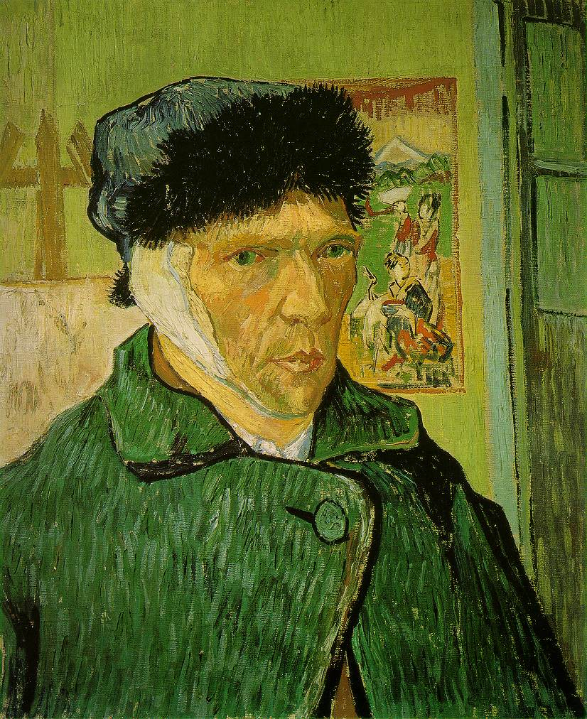 Vincent Van Gogh, Self Portrait with Bandaged Ear