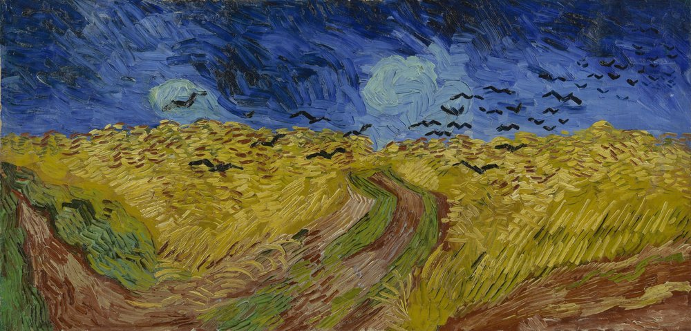 Copy of Vincent Van Gogh, Wheatfield with Crows