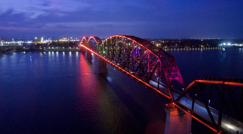 Big Four Bridge Louisville Aerial Photography