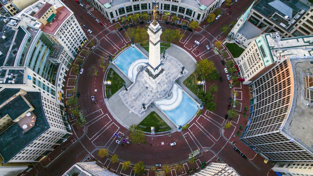 Circle City Indianapolis - Aerial Photography