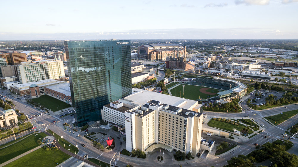 JW Marriot Hotel Indianapolis Aerial Photography