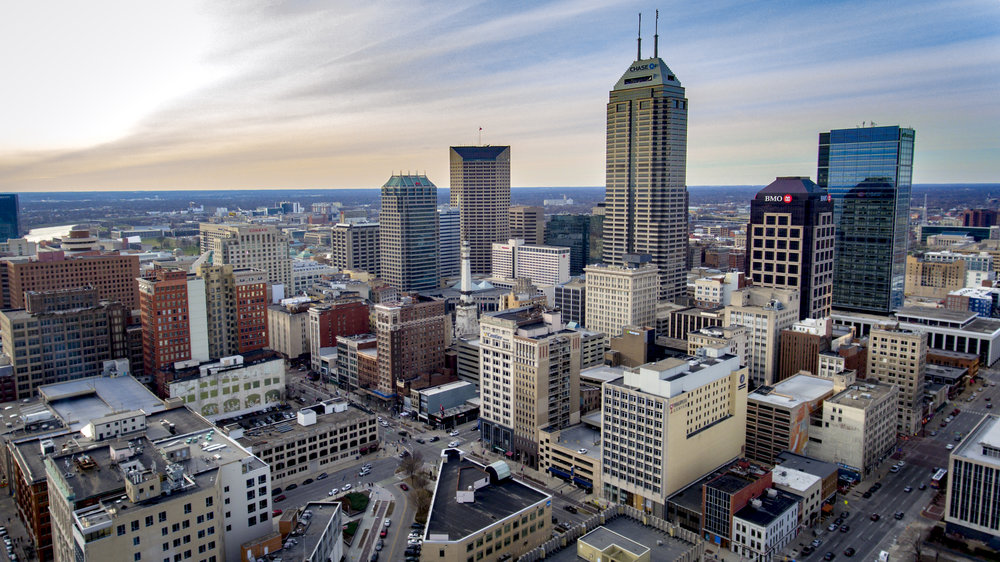 Downtown Indianapolis Aerial Photography