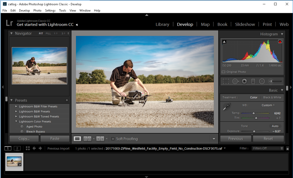 ==> Adobe Lightroom  is designed for cataloging, editing, color correcting, and preparing multiple files simultaneously