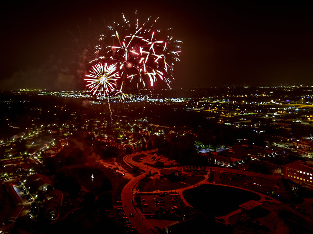 Fireworks over Fishers Indiana Drone Photography