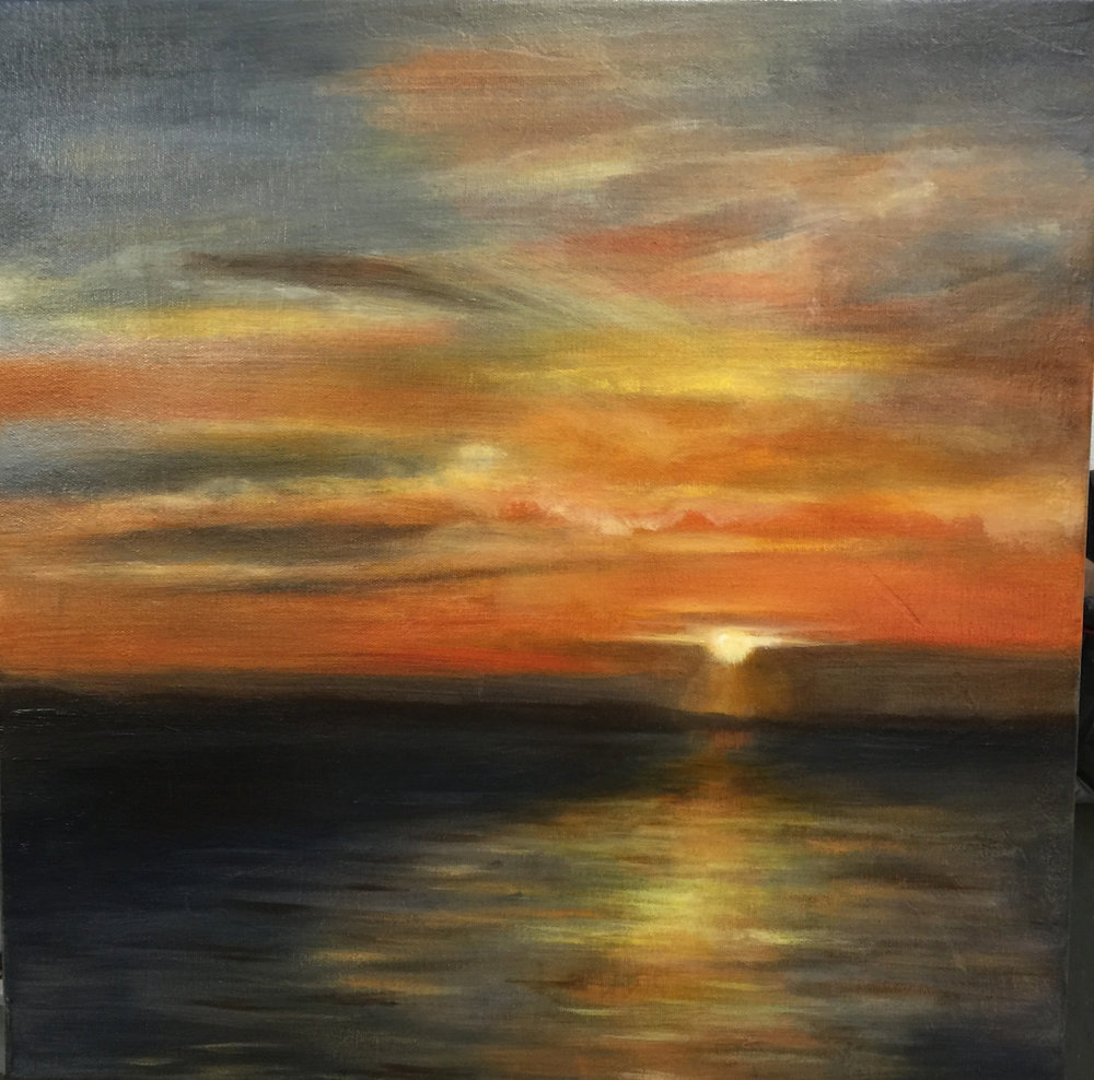 Florida Sunset 18x18 F