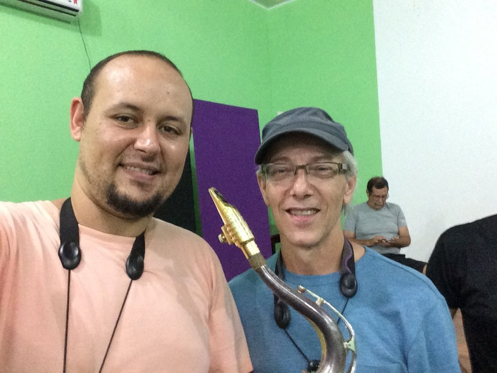 With Jota P. Hermeto's sax/flute player