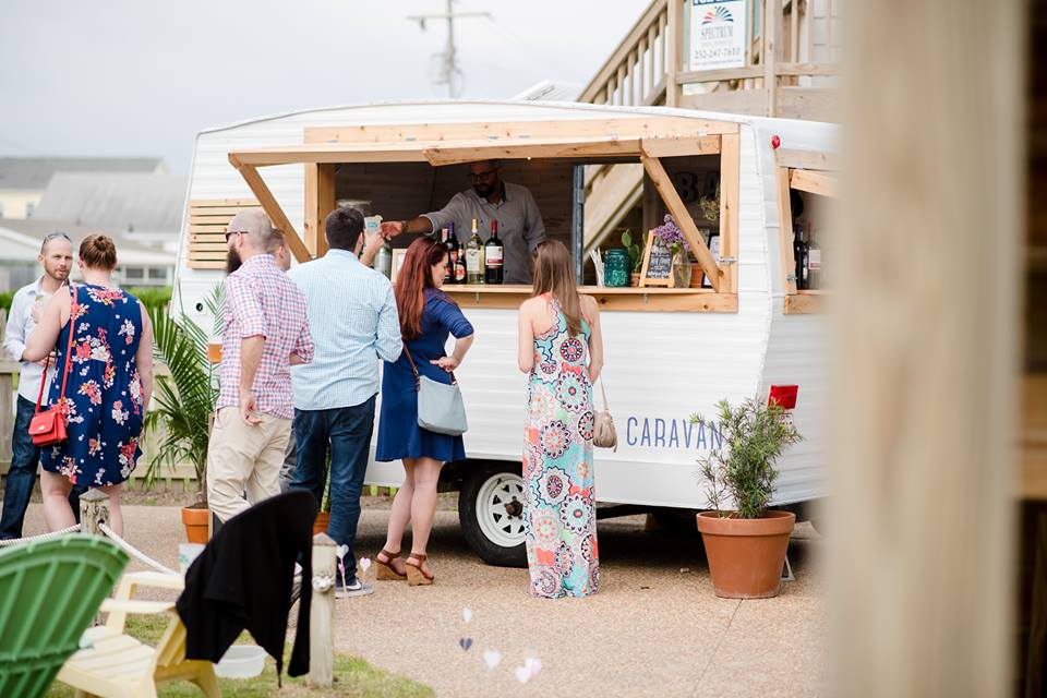 The Cantina Caravan is a 1972 Shasta Camper that has been renovated and turned into a mobile bartending service.  We enjoy serving weddings, birthday parties, anniversary parties, corporate events, trade shows, backyard parties, etc.  -Heather & Don -