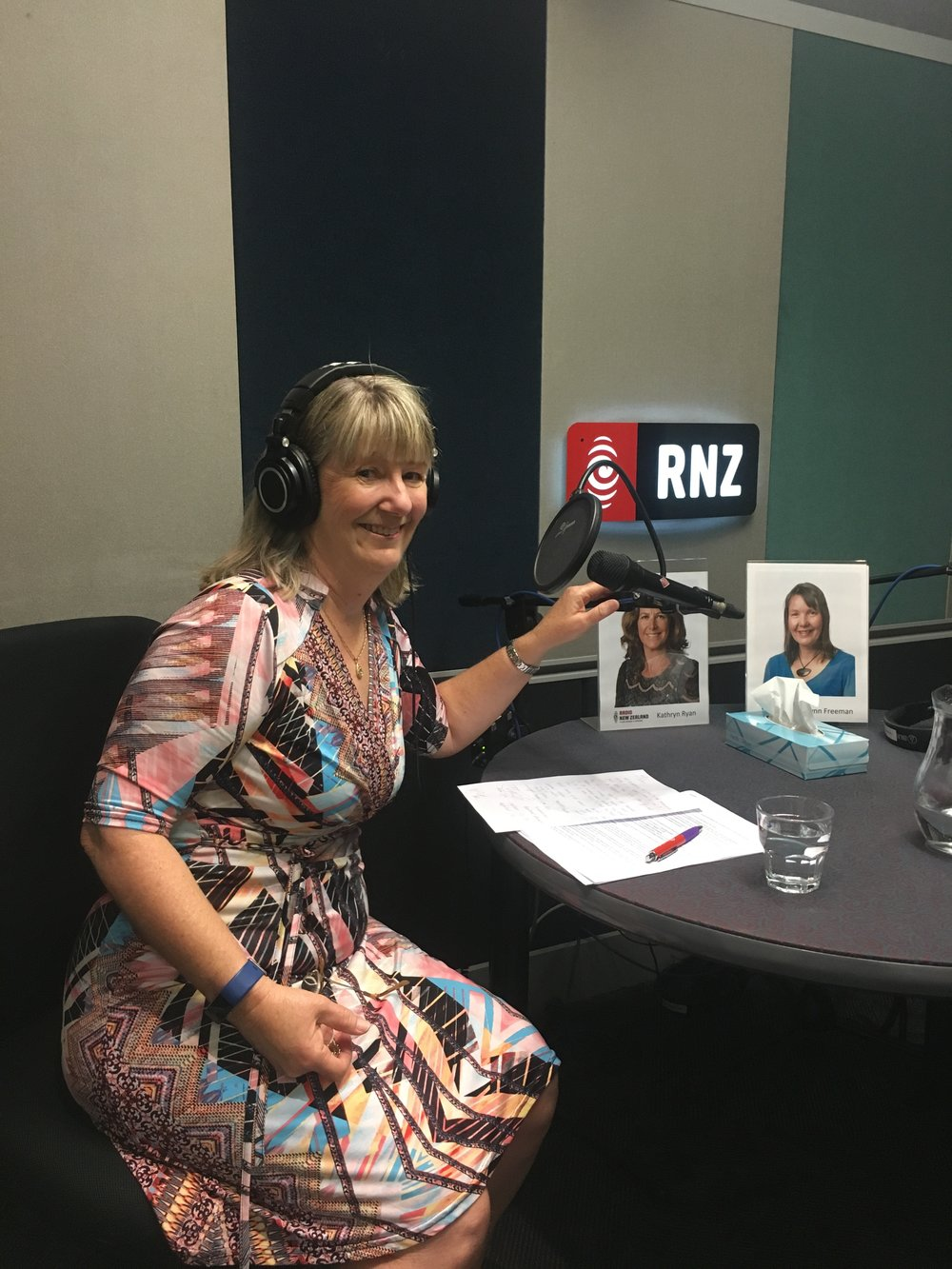 Dr Janice Brown at Radio New Zealand.JPG