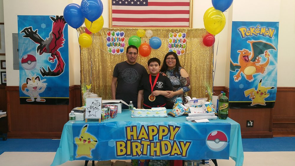 Happy Birthday Black Belt Marco! Pokemon Themed Birthday Party!