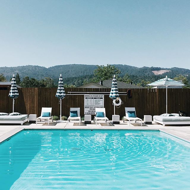 Oh hi. I'll just be here poolside reading all day. So happy to have found this little sunny wine country retreat.