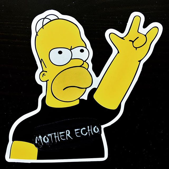 Fan/Friend art done by @pattieleon. You should see her sticker collection. It's pretty cool. #motherecho #thesimpsons #homerpalooza #homersimpson #mattgroening #rockandroll #psychrock