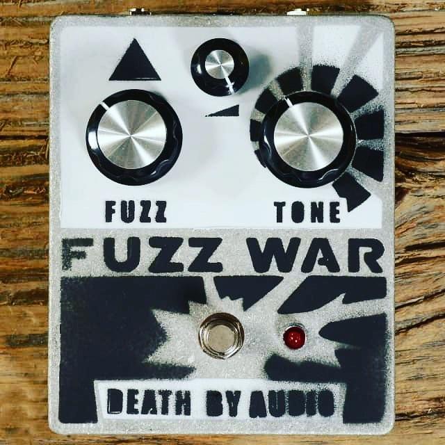 Ready for war @deathbyaudioeffects #fuzzwar #effectspedals #newgear #fuzzpedal #makewarnotlove