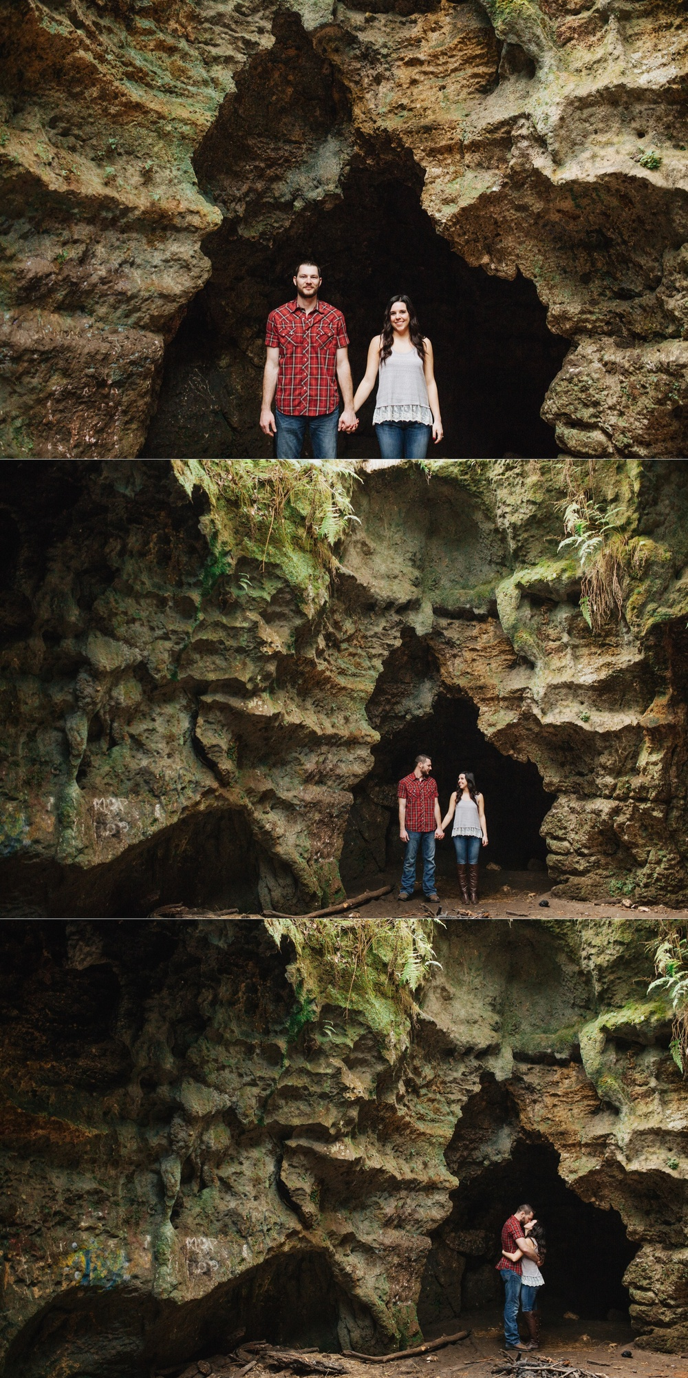 tampa outdoor hiking cave engagement session-3