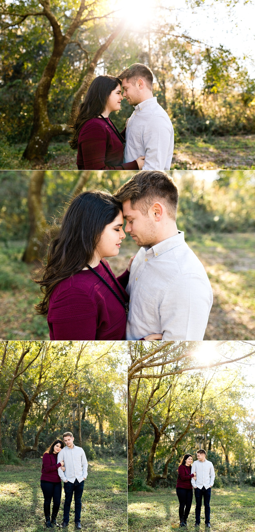 florida winter woodsy engagement session-1
