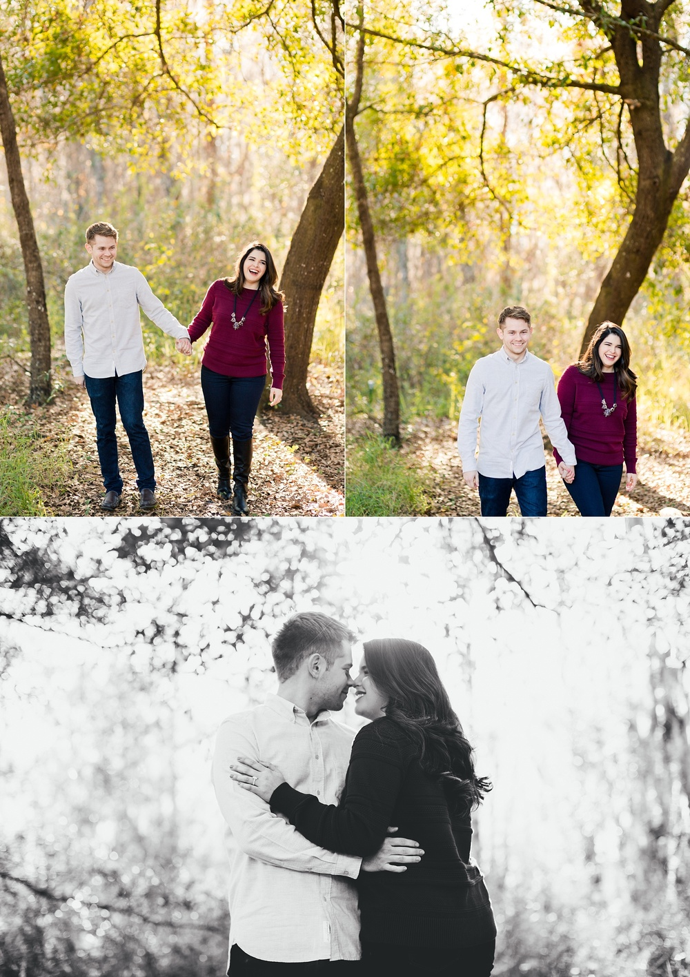 florida winter woodsy engagement session-3