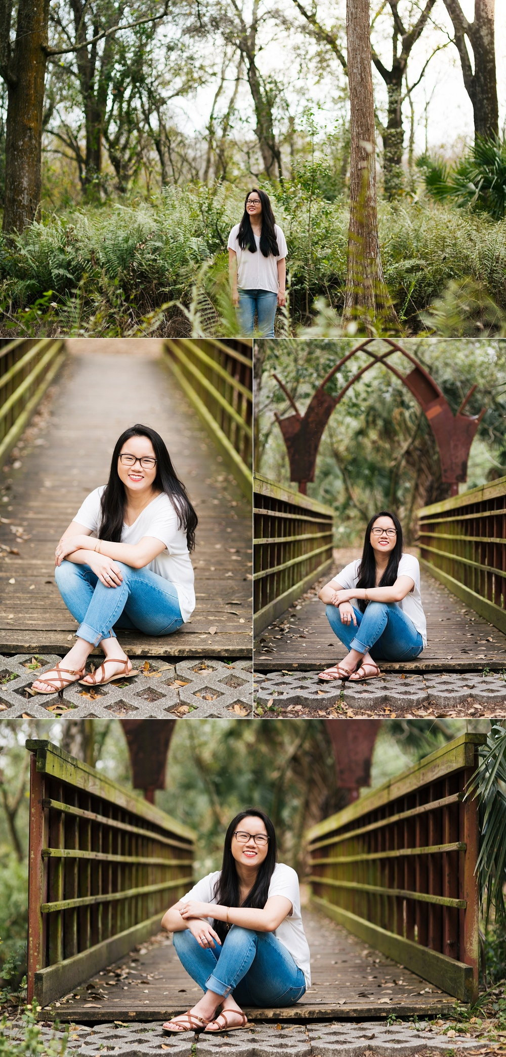 tampa bay nature woodsy senior portraits jade-3