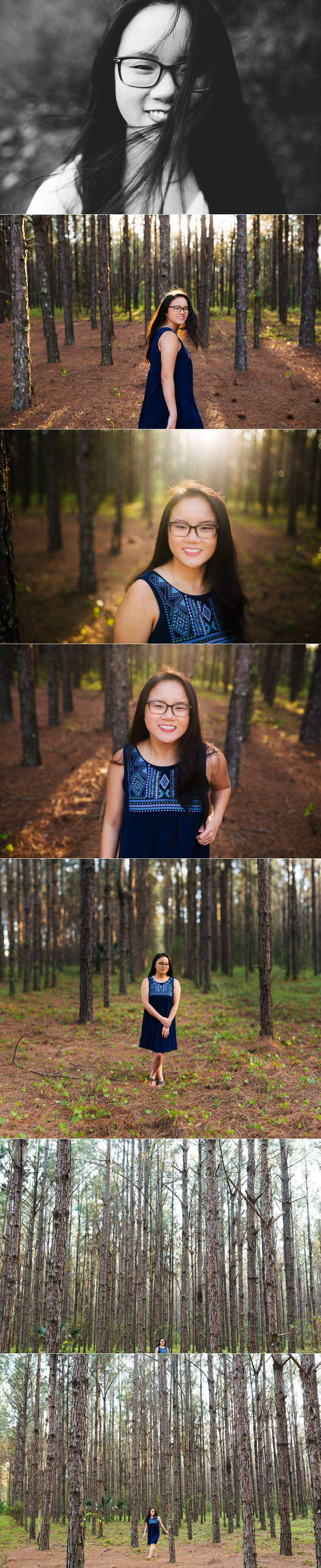 tampa bay nature woodsy senior portraits jade-6