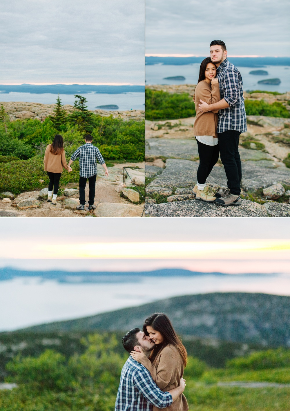 jake and jill acacdia national park engagement session cadillac mountain engagement session jordan pond engagement session maine engagement session jake and katie_0003