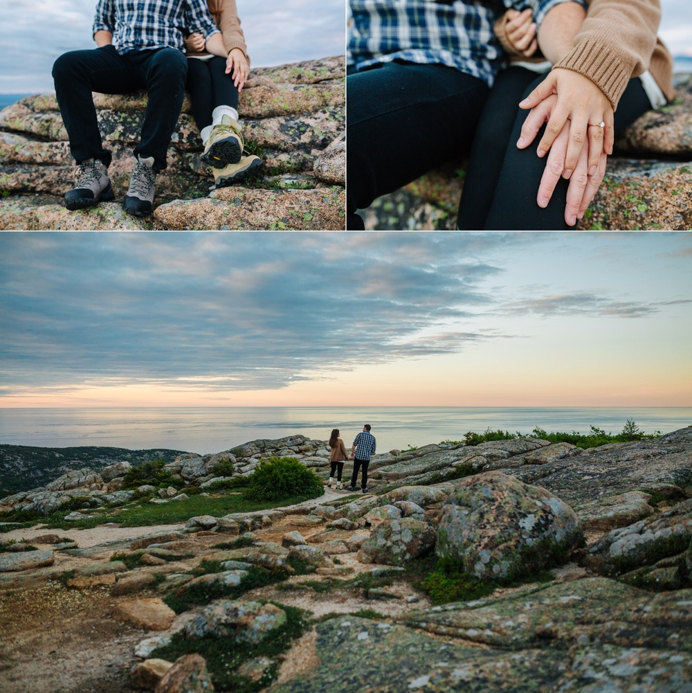jake and jill acacdia national park engagement session cadillac mountain engagement session jordan pond engagement session maine engagement session jake and katie_0009
