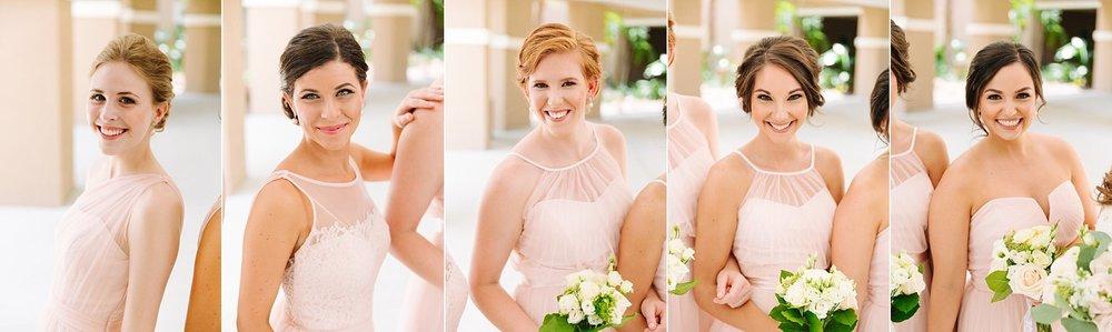 fun avila country club wedding: bridesmaid photos