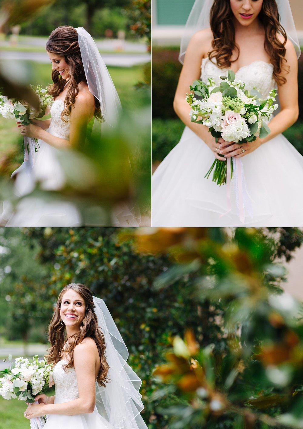 fun avila country club wedding: bride portraits