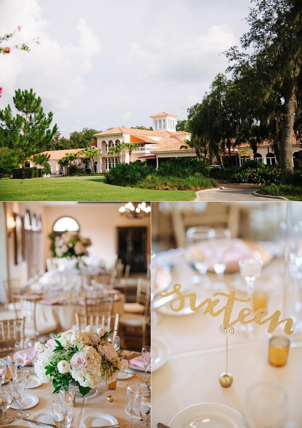 avila country club wedding: elegant pink details