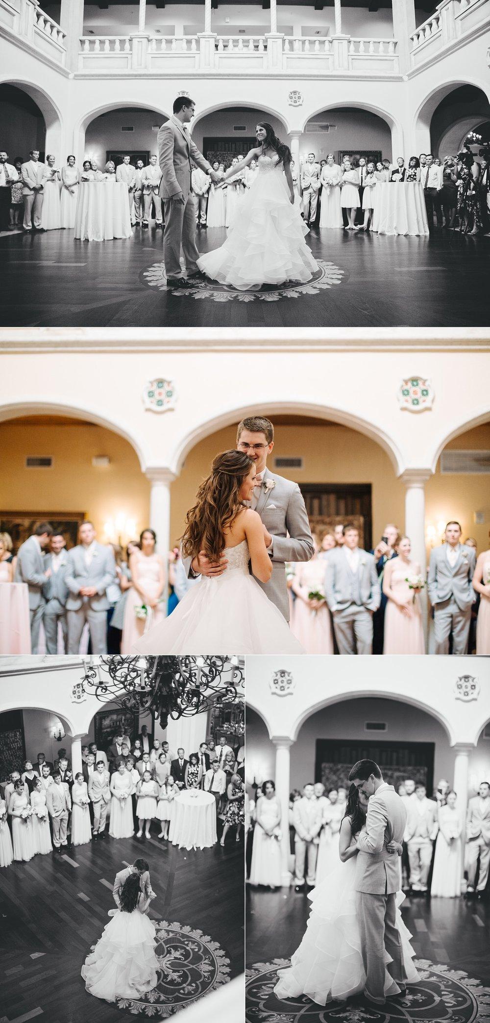 fun avila country club wedding: first dance
