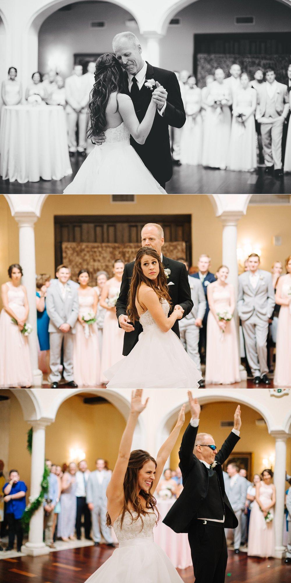fun avila country club wedding: father daughter dance