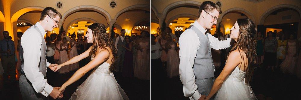 fun avila country club wedding: dancing