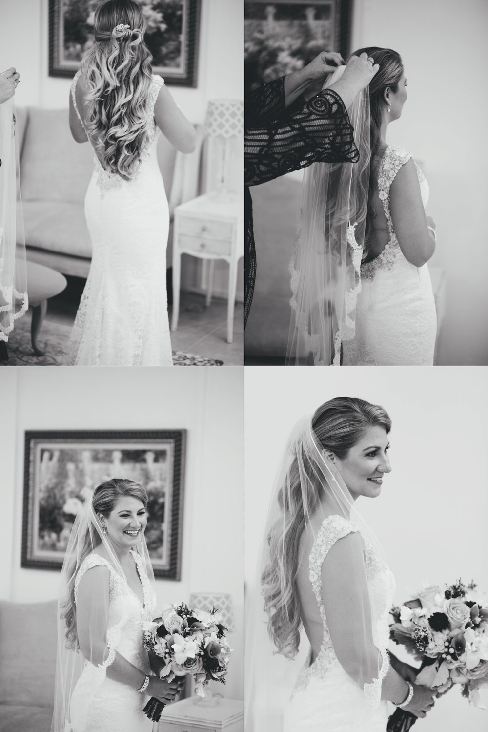 lange farm wedding: bride getting ready
