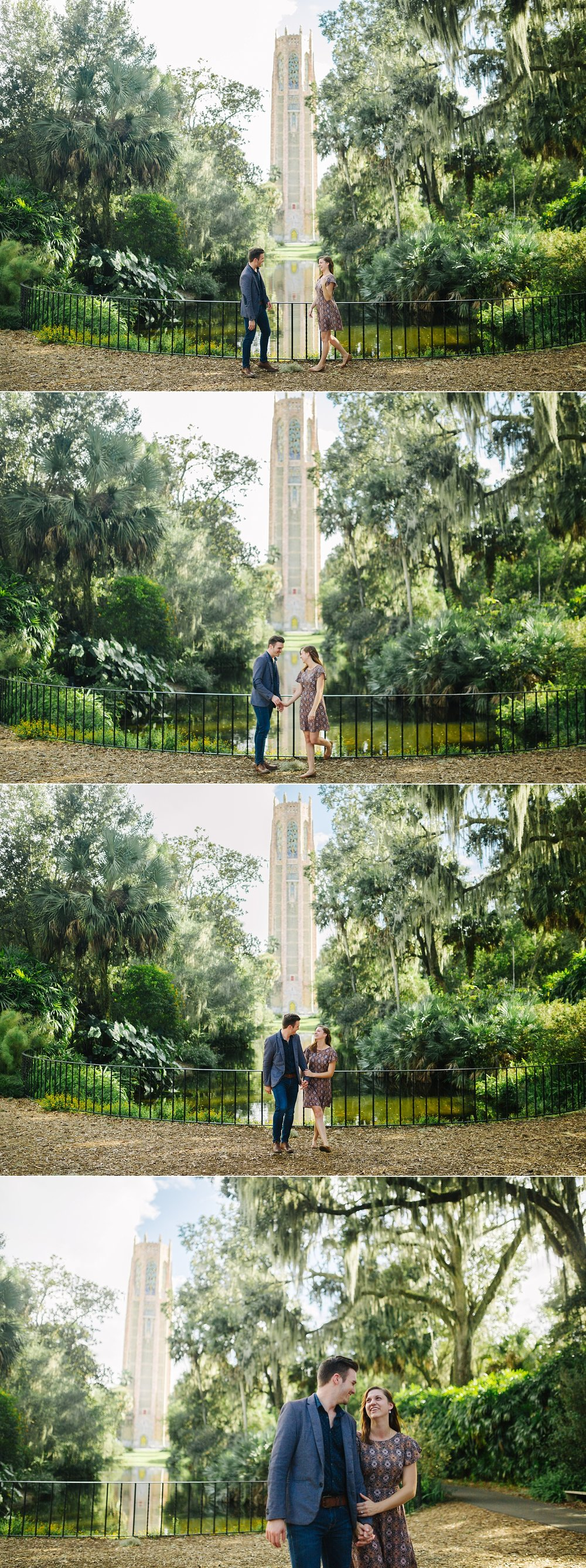 bok tower proposal bok tower engagement session