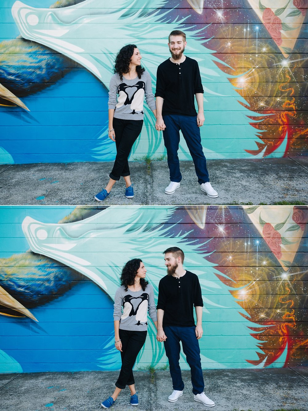 downtown st pete engagement session jake and katie photography tampa bay wedding photographer