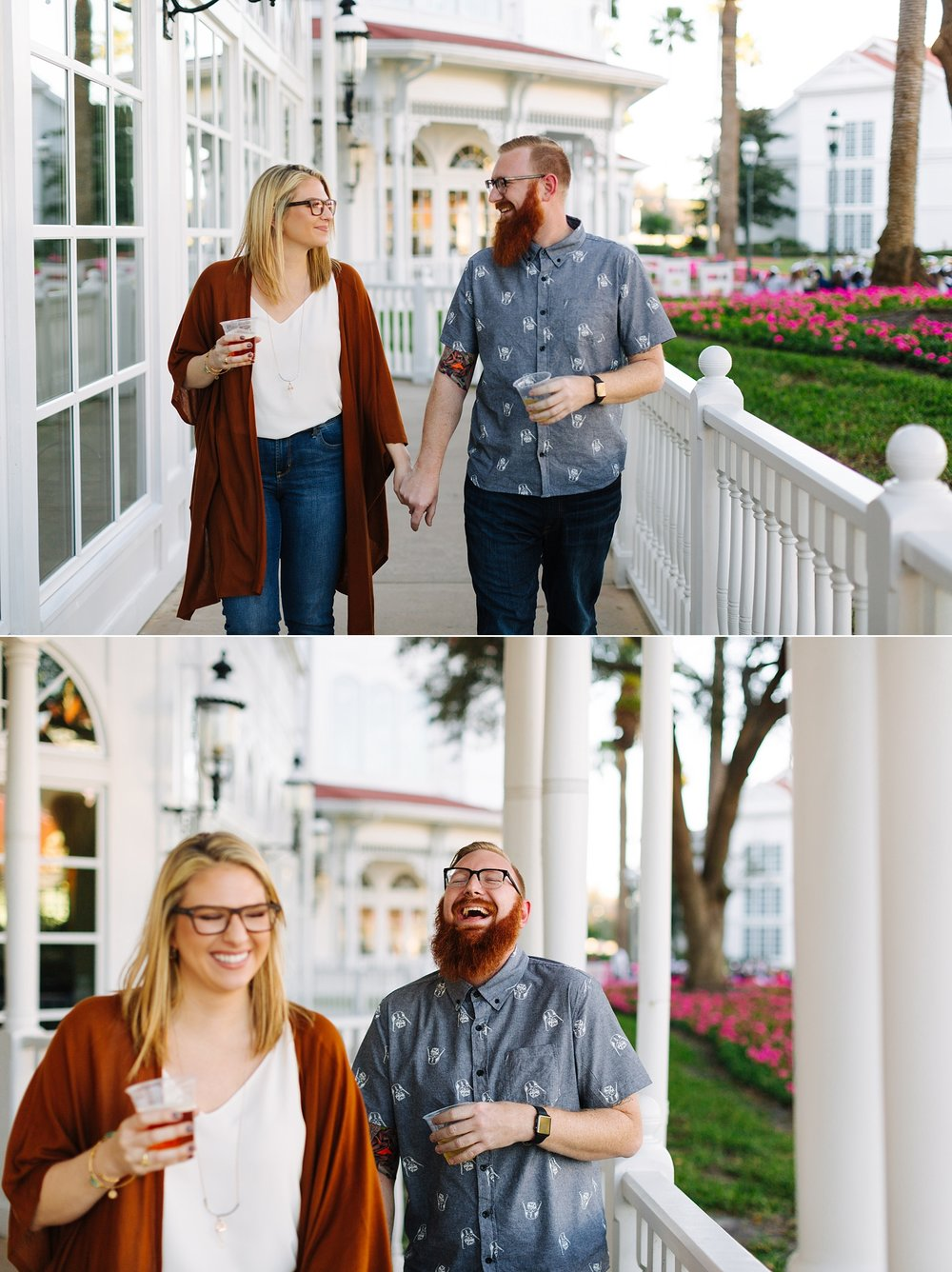 jake and katie photography - mike heather walt disney world engagement session monorail engagement session grand floridian engagement session polynesian resort engagement session