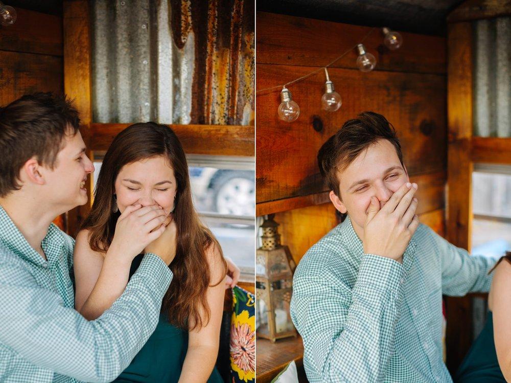 801 E Main engagement photos The Poor Porker engagement photos Jake & Katie Photography