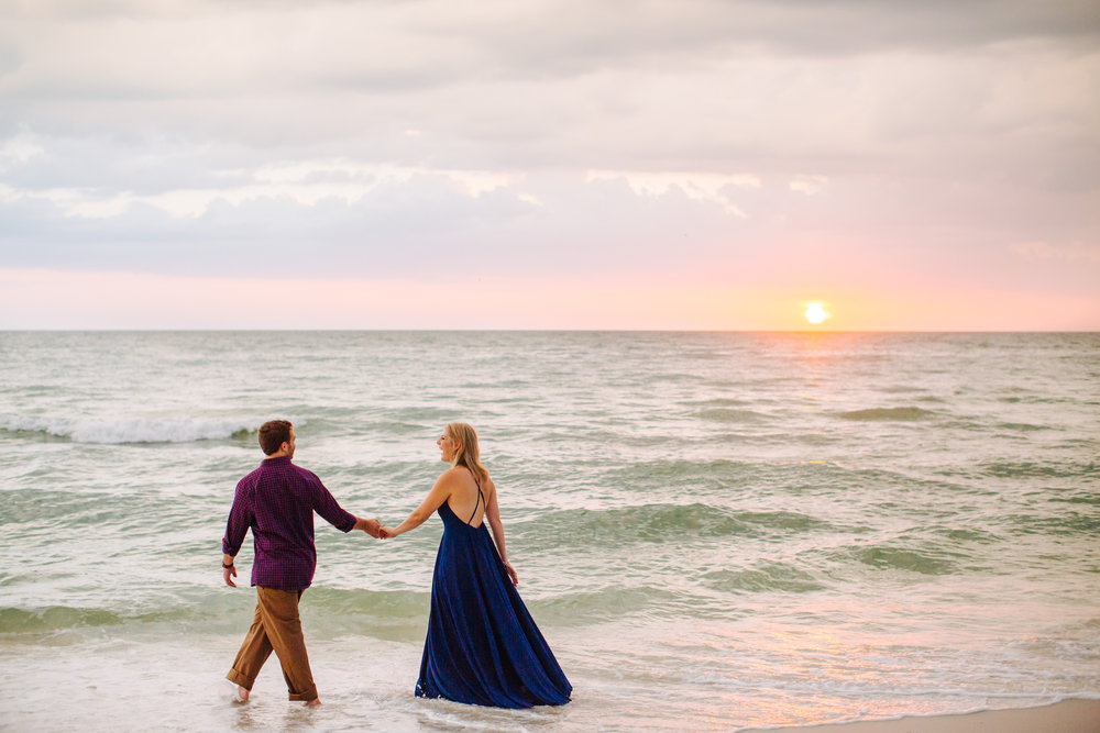 clearwater beach sunset engagement photos-020.jpg
